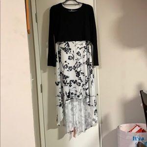 Floral long Nursing dress